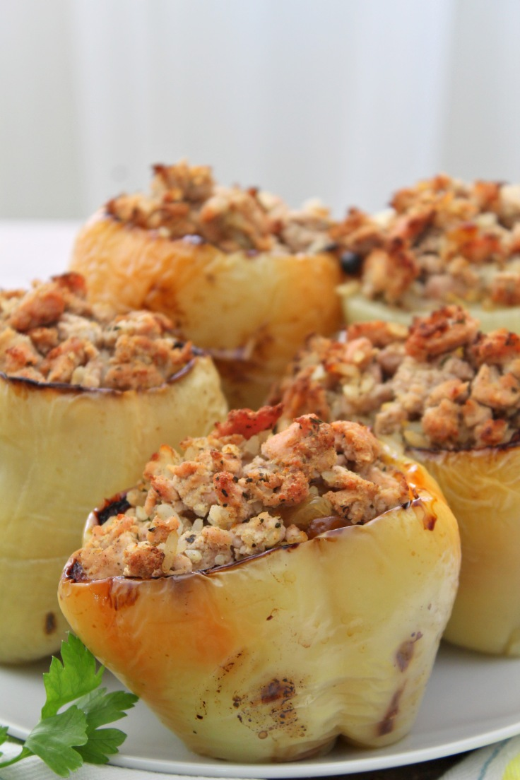Quick stuffed peppers