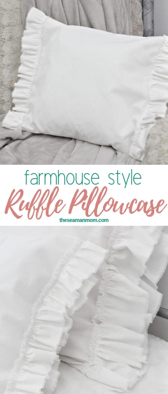Ruffled pillow case