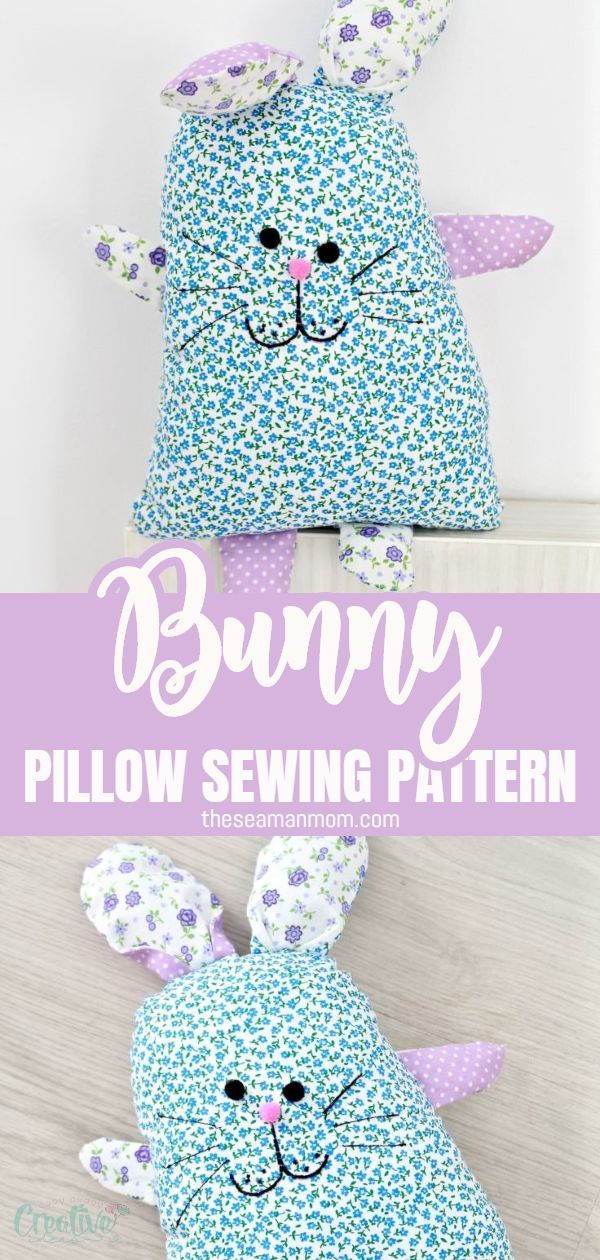 Don't know what to sew for your little ones this Easter? Make a cute DIY bunny (or more)! This easy bunny sewing pattern makes an adorable stuffed bunny that could play as a softie for smaller kids or as a decorative bunny pillow for older ones.   via @petroneagu