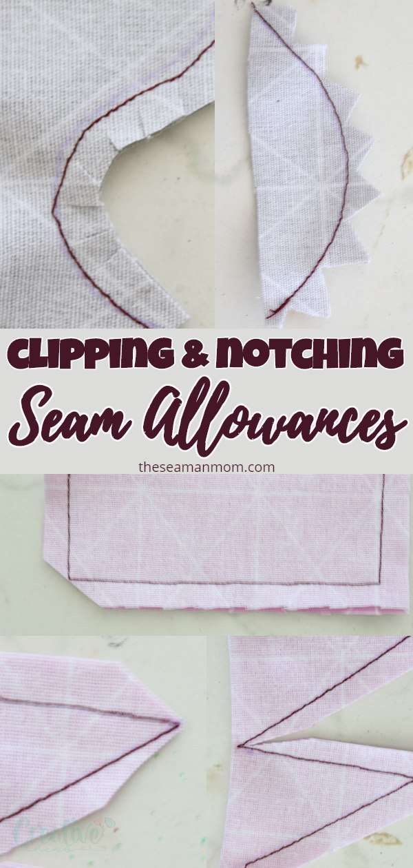 Learning clipping and notching seam allowances the correct way is crucial for a successful sewing project! It not only removes bulk but helps the seams align perfectly, on any kind of shapes! via @petroneagu