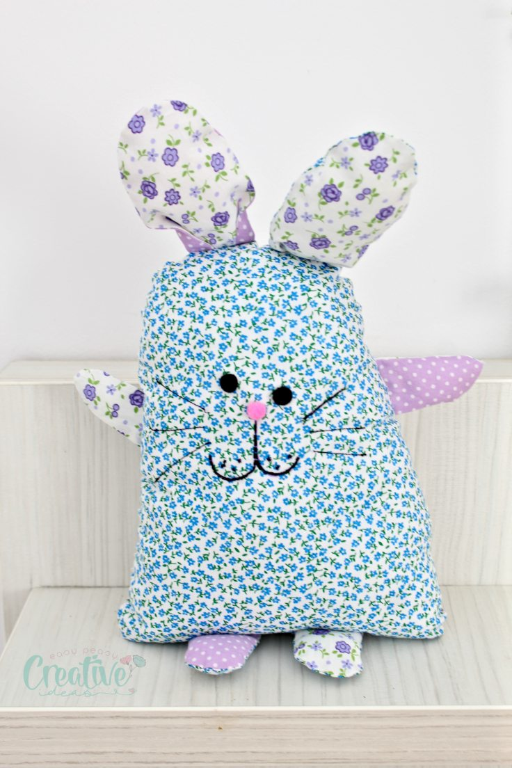 DIY bunny pillow