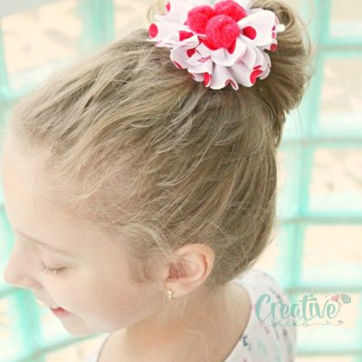 DIY Hair Ties flower hair accessories