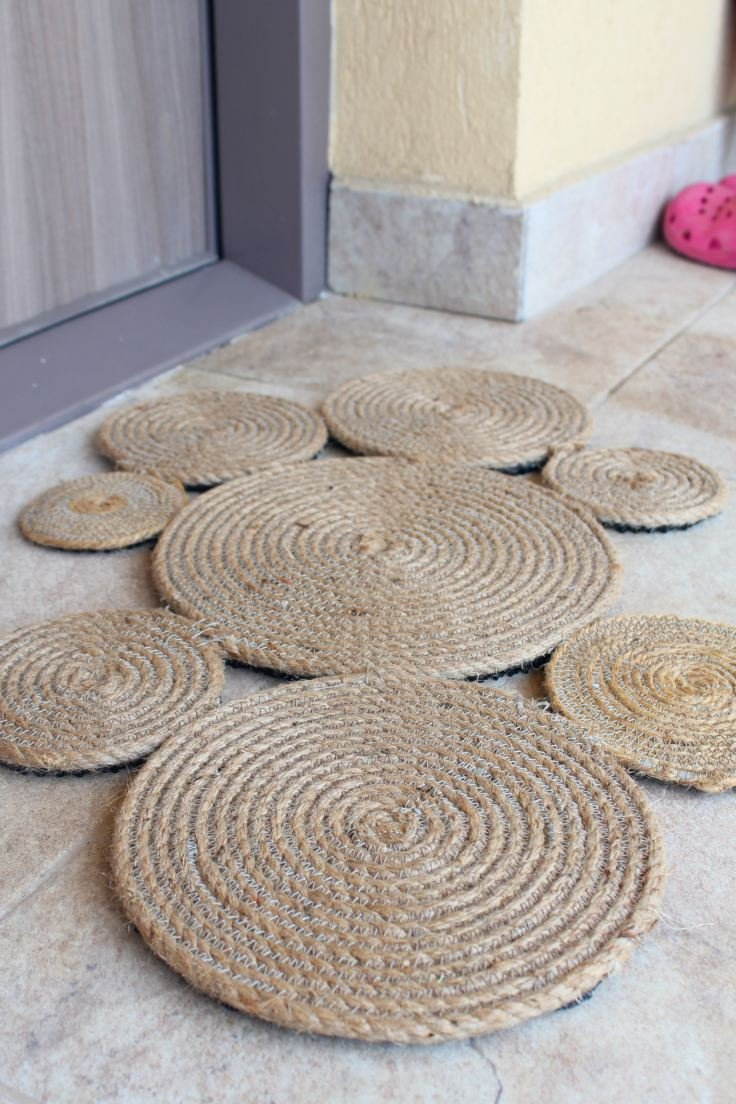 Coiled Rope Rug Diy Gorgeous Addition