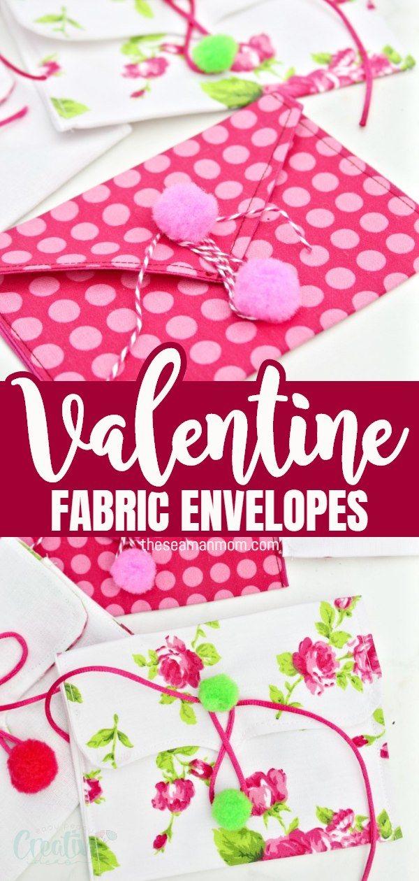 Make your own envelope with this easy peasy fabric envelopes tutorial! These adorable DIY envelopes are perfect as Valentine envelopes for love letters but they work just as great as fabric envelope pouches for small gifts or treats for kids! via @petroneagu