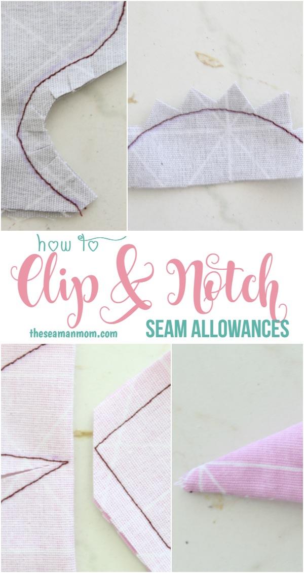 How to clip seam allowances