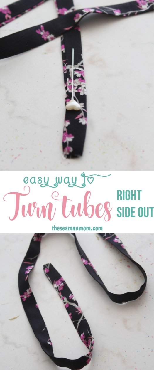 How to turn a fabric tube inside out