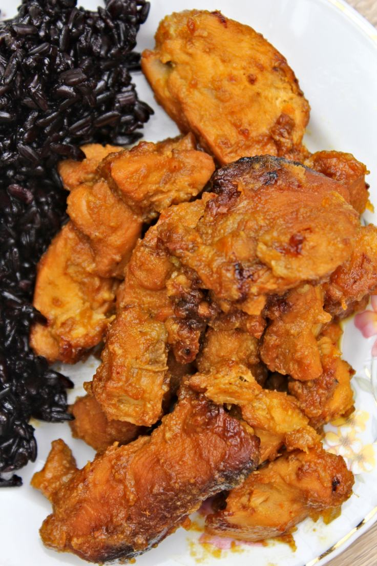 Orange chicken with orange marmalade