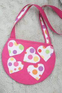 Round crossbody bag