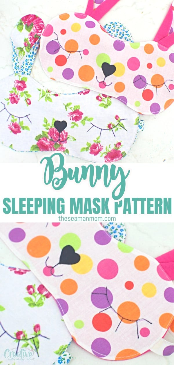 Looking for a cute eye mask pattern? This bunny sleeping mask is not only super adorable but easy and fun to make too! Ready in about half an hour, this cute sleep mask is a great gift idea for Easter! via @petroneagu