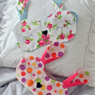 Bunny sleeping mask sewing pattern