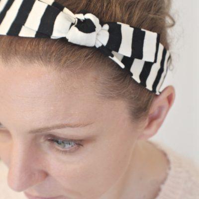 DIY knot headband sewing tutorial