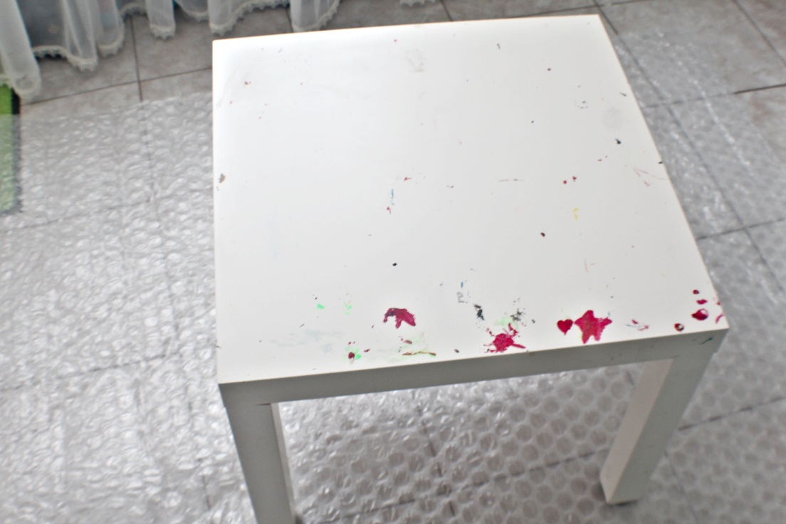 DIY Ikea coffee table makeover