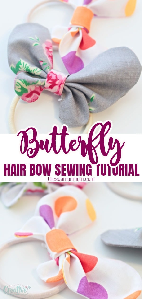 Want to make some adorable butterfly hair accessories for the little girls in your life? This butterfly hair bow is so simple to make with fabric scraps and perfect for girls of all ages! via @petroneagu