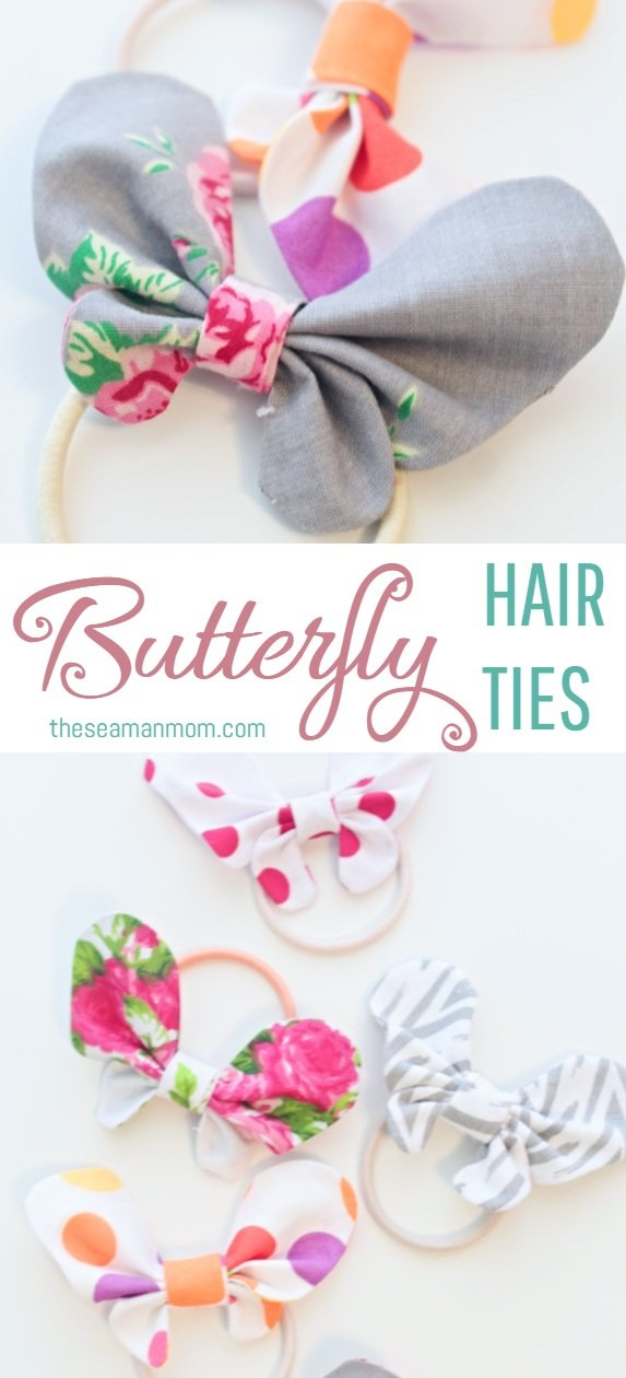 Butterfly hair bows