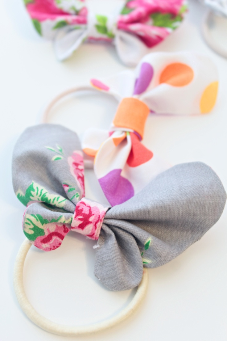 DIY butterfly hair bow