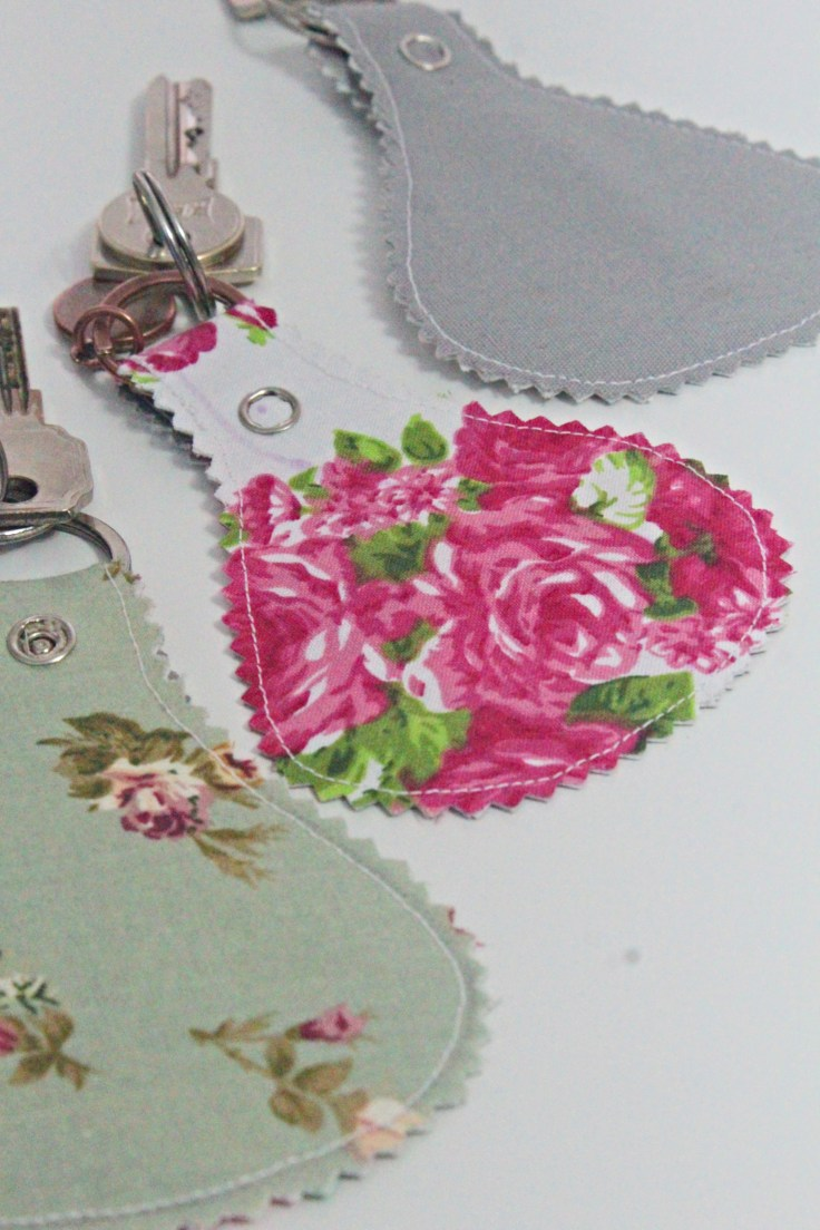 Fabric Keychains With Snaps Beginner Sewing Tutorial