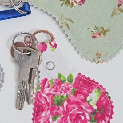 DIY Fabric Keychains Sewing Tutorial