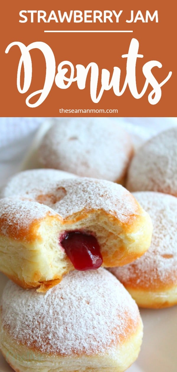 Jam filled donuts