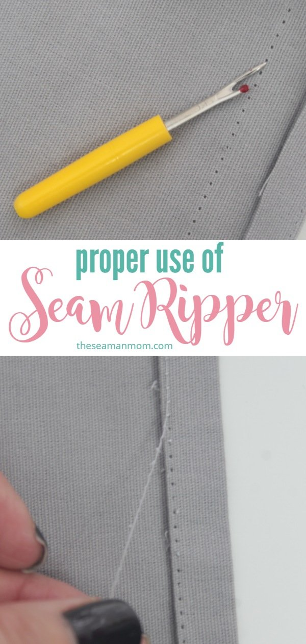 Seam ripper use