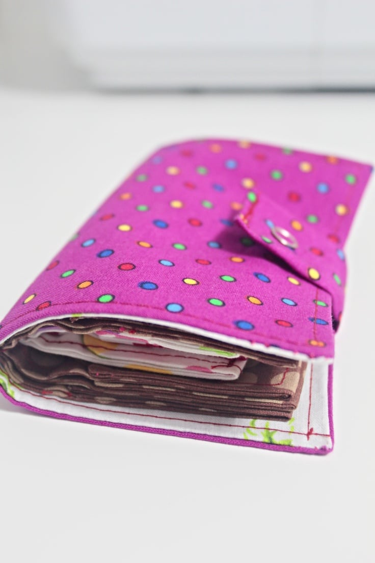 Fabric card wallet