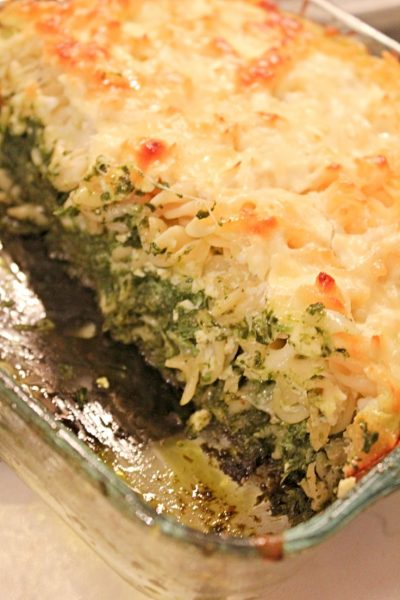 Spinach pasta recipe