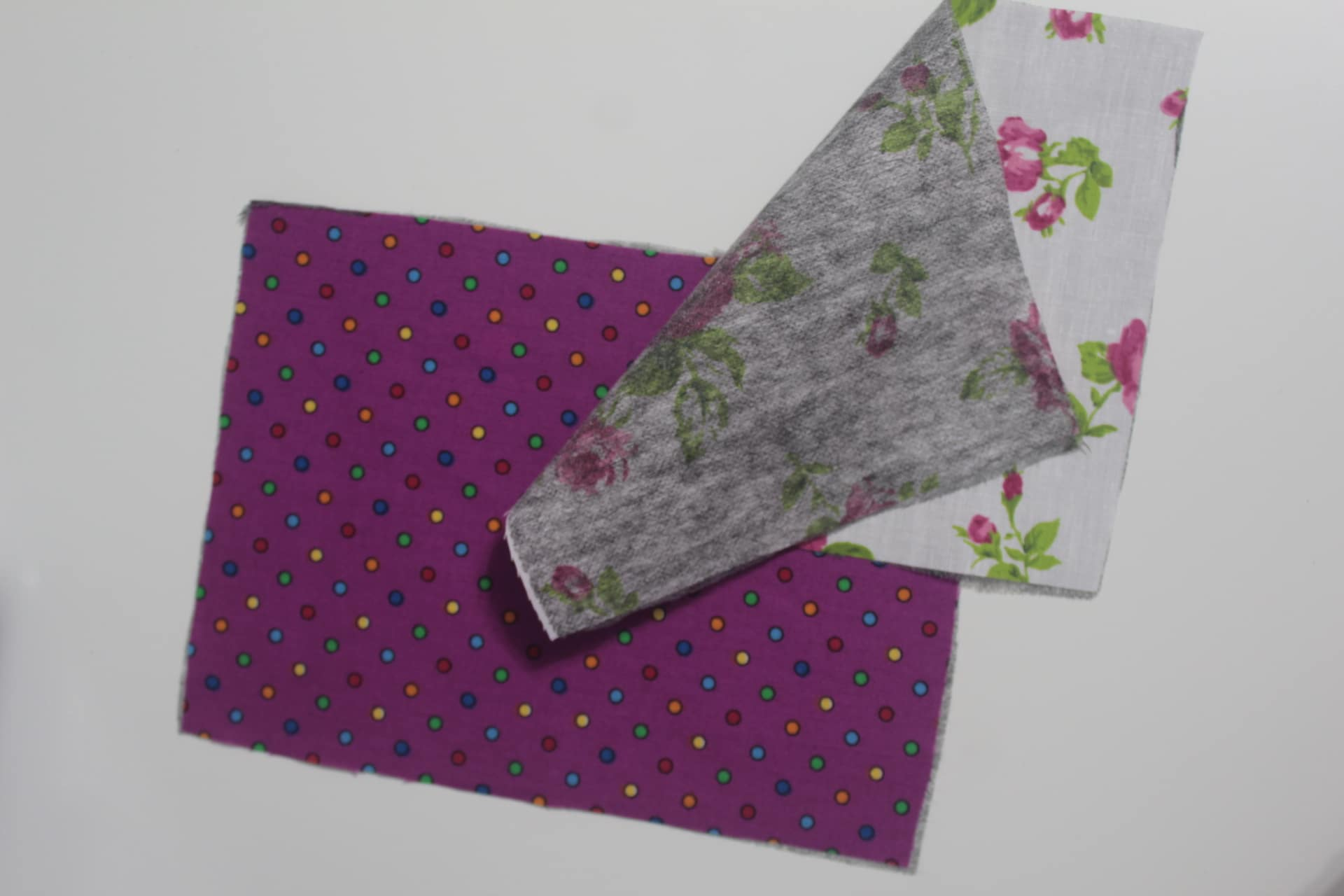 006222508 Place each of the fabric pairs right sides together and sew with 1/4″  allowance, leaving a gap for turning the fabrics out.