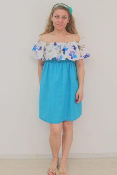 Off shoulder dress sewing pattern