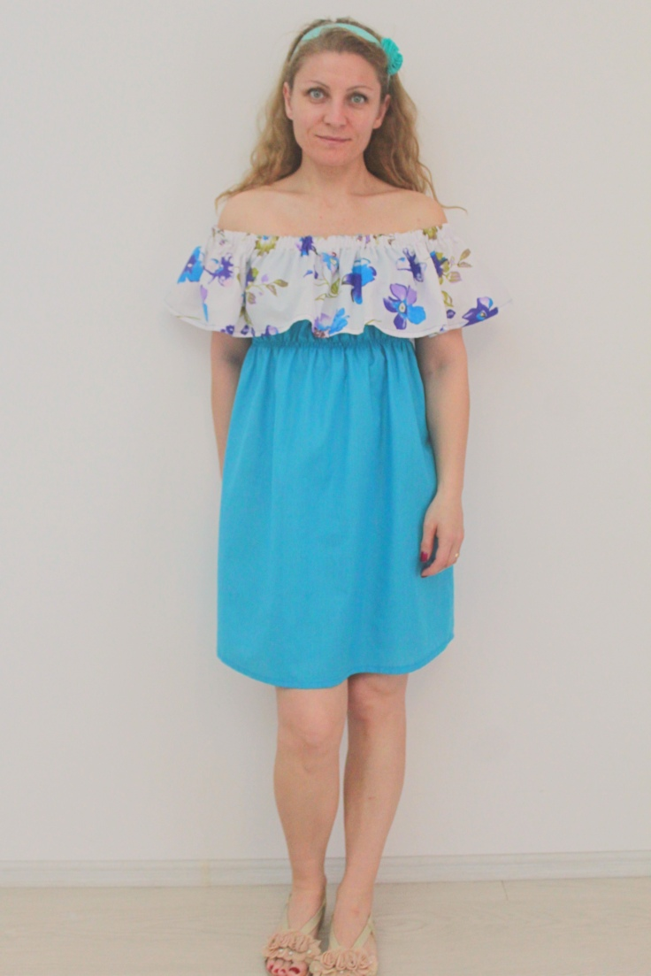 Off shoulder dress sewing pattern
