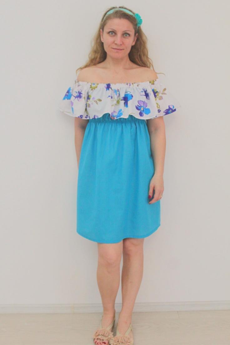 d64dc3d782ed Off The Shoulder Dress Pattern Sweet Summer Dress Idea