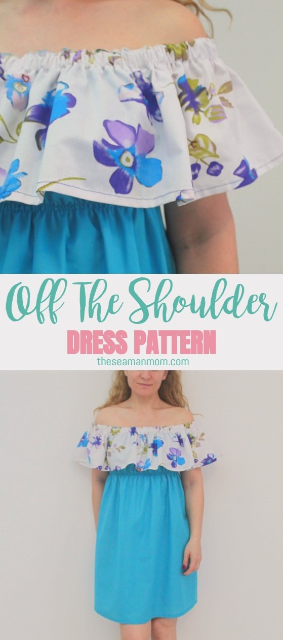 ae039359f9af Off The Shoulder Dress Pattern Sweet Summer Dress Idea