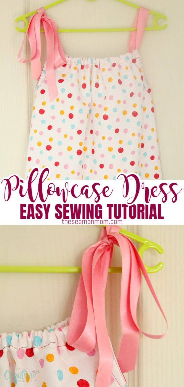 Love beginner sewing projects for kids? This ultimate pillowcase dress is the perfect project! Here's how to make an easy to sew, cute and comfy DIY pillowcase dress! via @petroneagu