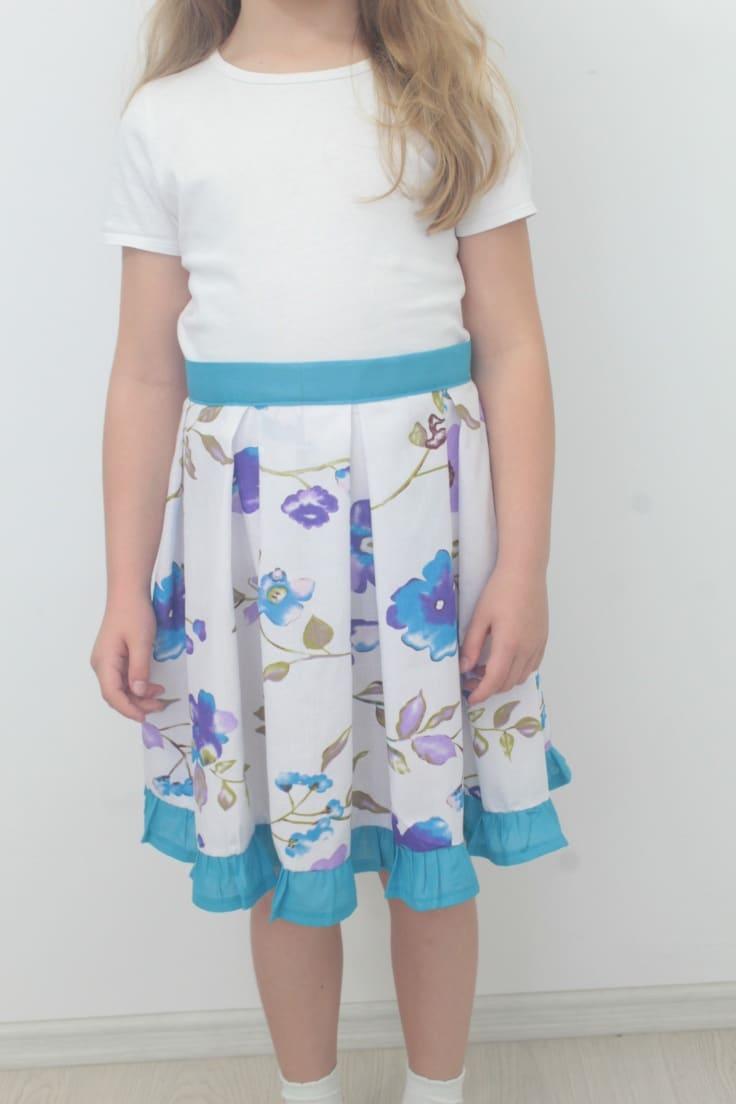 DIY box pleat skirt