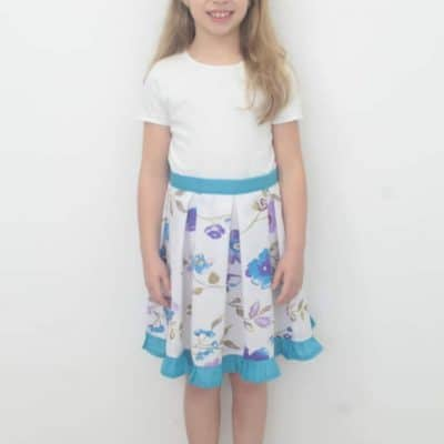 Box pleated skirt sewing tutorial