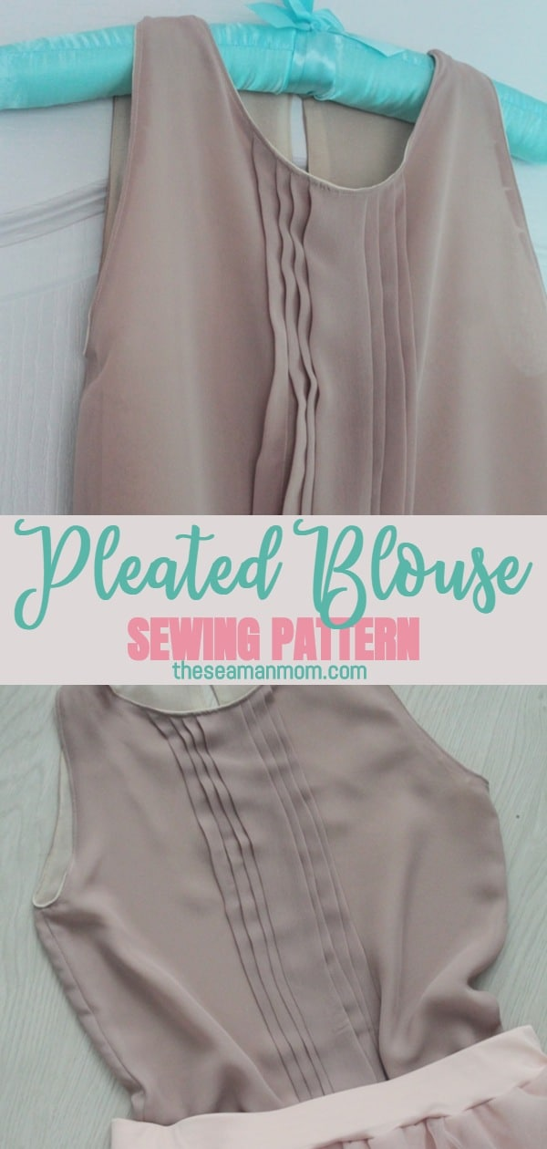 Pleated blouse pattern