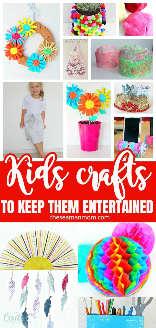 All these easy crafts for kids are great as summer activities during those long days of school break but they work just as great all year round, whenever kids have to spend longer periods of time at home! via @petroneagu