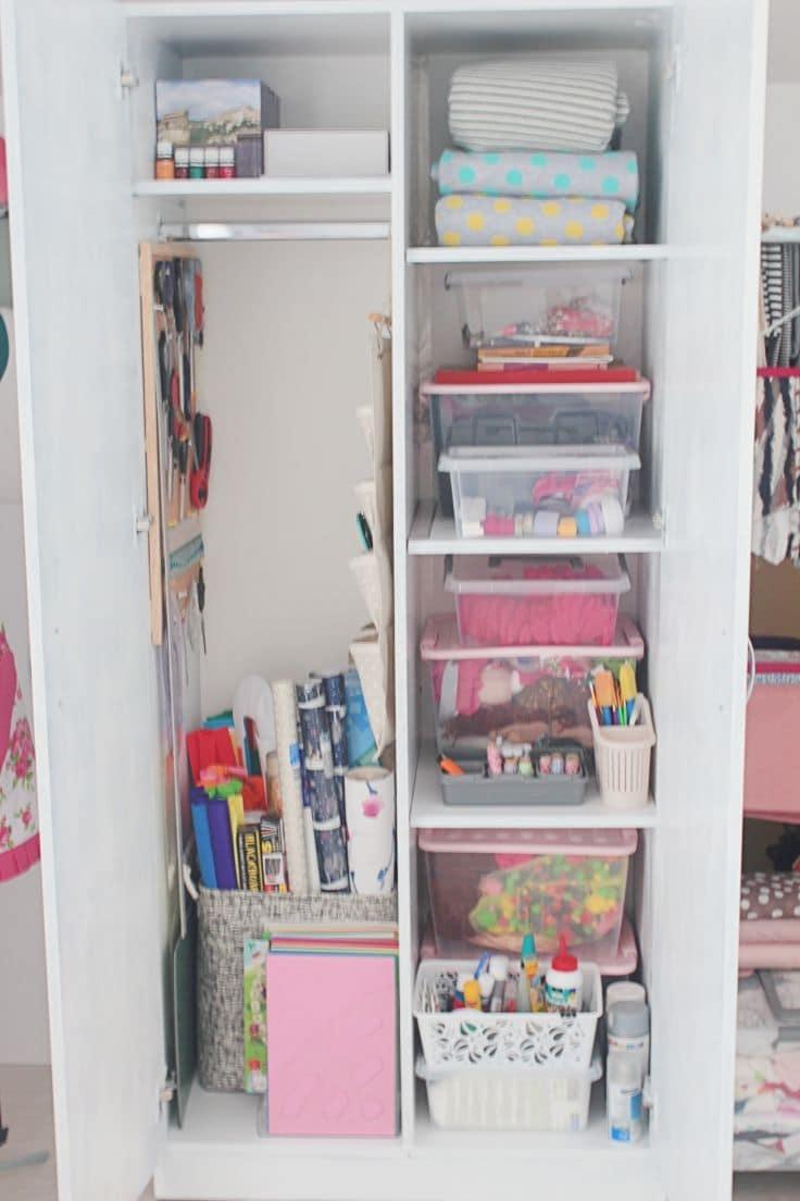 Sewing closet