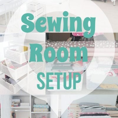 My Sewing room organization