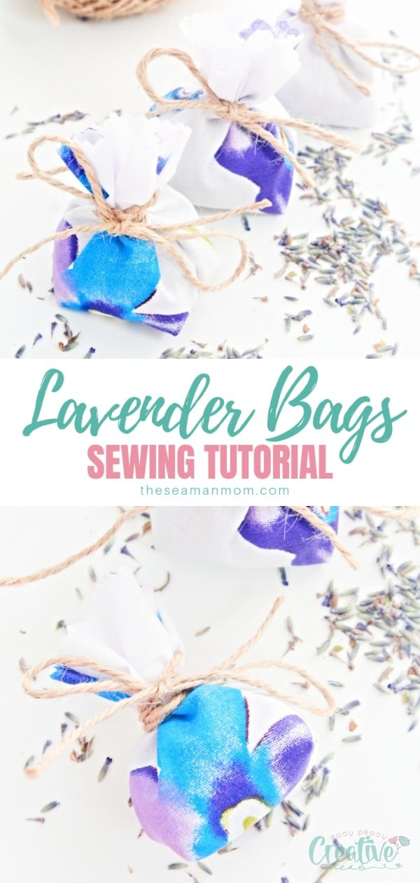 Lavender bags are highly popular and making lavender bags at home is easy peasy with this super simple DIY lavender bags tutorial! It involves minimal sewing, making it perfect for beginners ans it's a great scrap buster project! via @petroneagu