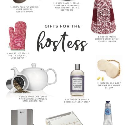 Hostess gift ideas for holidays & parties