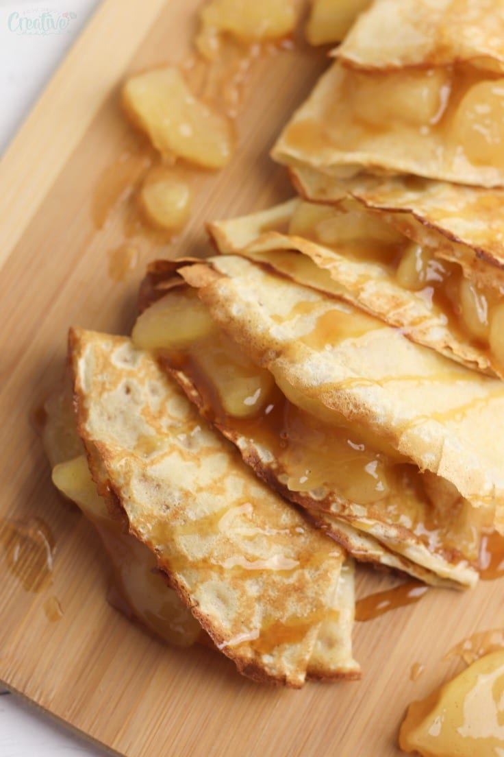 Apple crepe filling