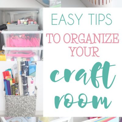Simple craft room organization tips