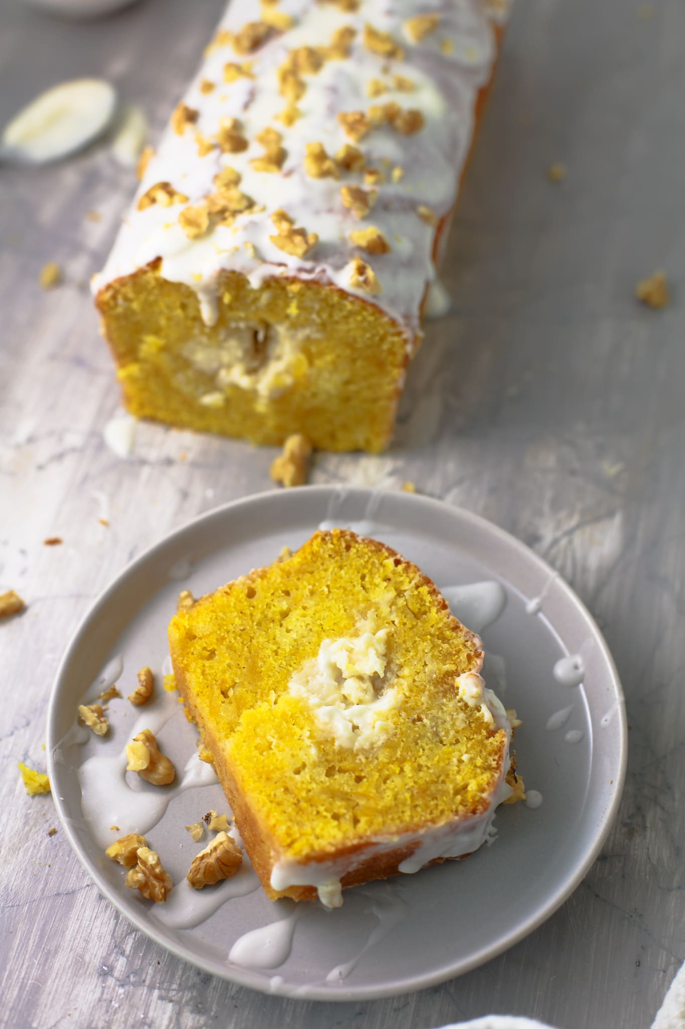 Cream cheese pumpkin bread