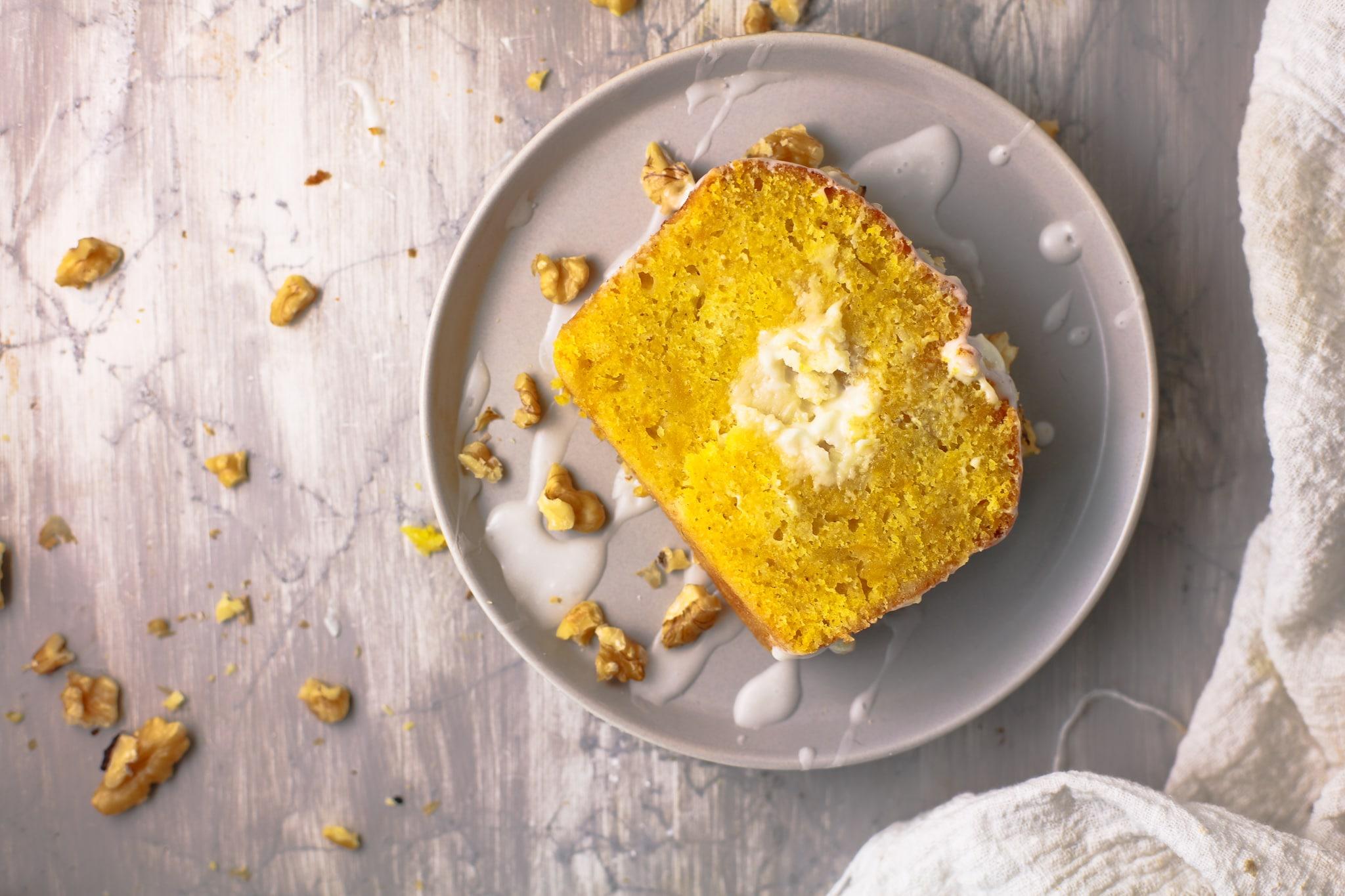 Cream cheese pumpkin loaf