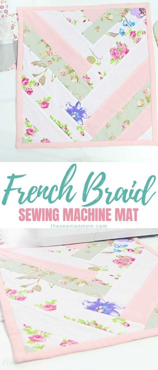 This adorable miniature quilt is an introduction to a lovely quilting method: the French braid. This wonderful French braid sewing mat is both pretty and practical and comes together in no time, literally! via @petroneagu