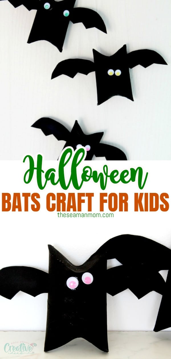 If you're looking for inspiration for an easy and quick Halloween bat craft, check out these toilet paper bats! These are not only a fun Halloween art project for kids but are also cheap and frugal and only take minutes to make! via @petroneagu