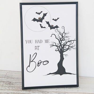 Halloween Boo sign home decor