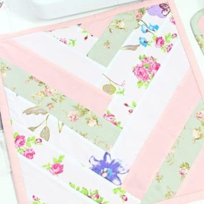 French braid sewing mat