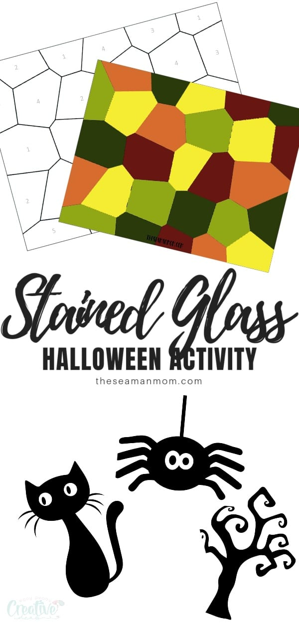 Have you been looking for Halloween activities for kids? This stained glass craft is simple and doesn't require a lot of effort, but the bonding time will be priceless! via @petroneagu
