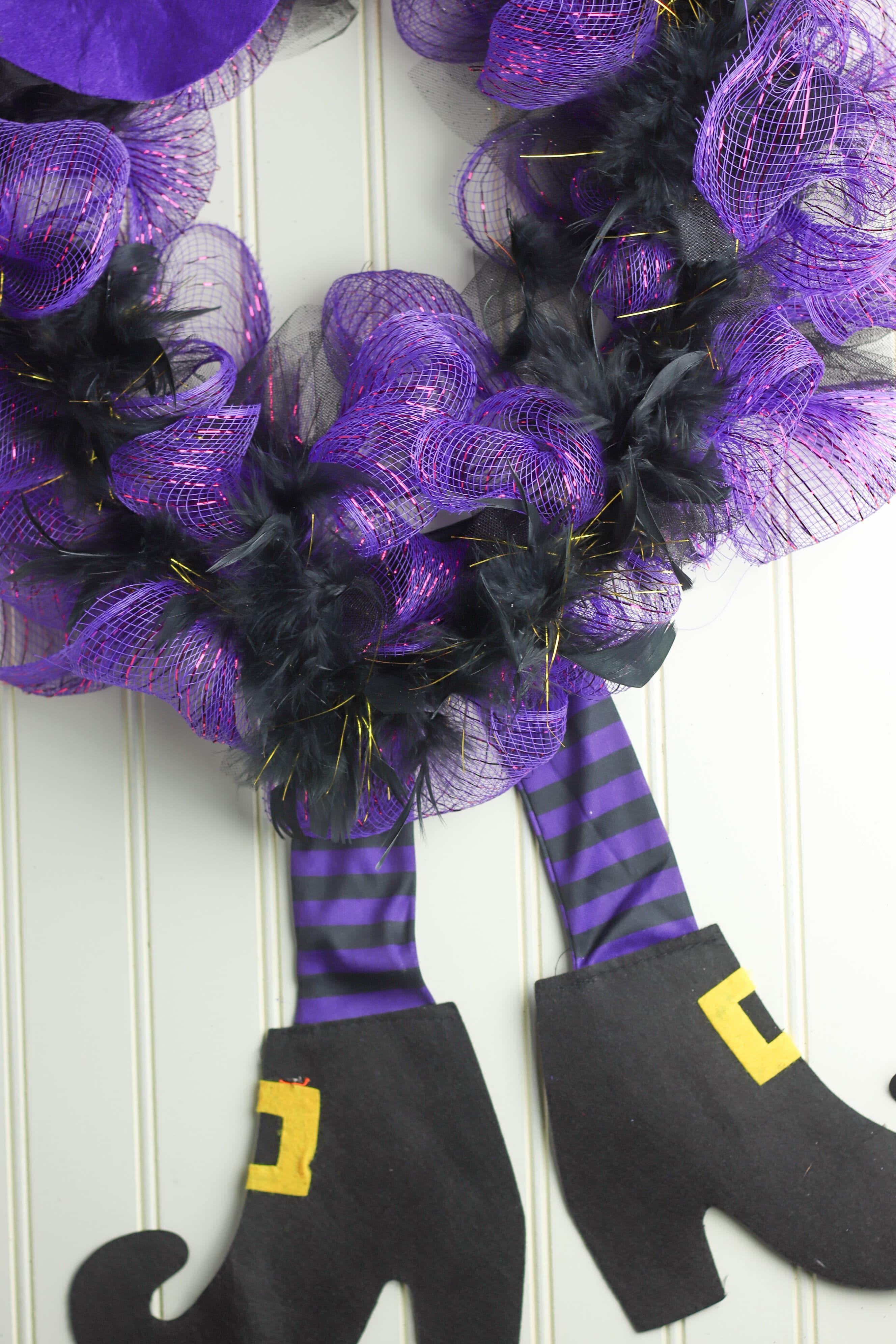 Witch legs wreath