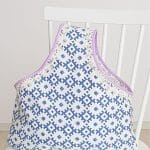One handle fabric tote bag